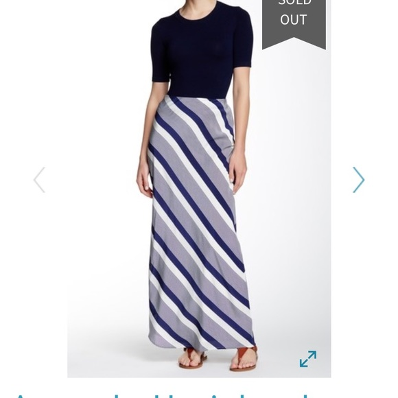 Amanda Uprichard Dresses & Skirts - Silk flattering bias striped maxi skirt